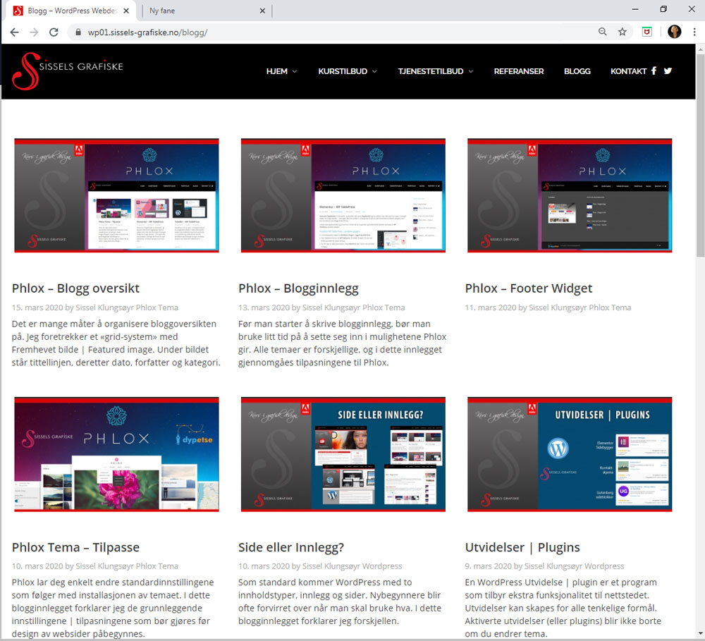Sissels Grafiske Blogside